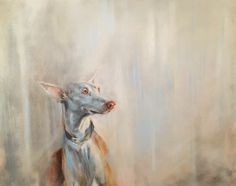 """'A Very Spanish February' 24"""" X 30"""" by Julie Brunn. A tribute to the Spanish hunting dogs."""