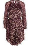 Étoile Isabel Marant|Prewitt leaf-print georgette dress|NET-A-PORTER.COM  EDGY BOHO. PUNK IT UP WITH TOUGH ACCESSORIES