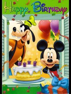 55 Ideas Happy Birthday Wishes Disney Clip Art Disney Birthday Wishes, Happt Birthday, Happy Birthday Mickey Mouse, Happy Birthday Greetings Friends, Happy Birthday Kids, Happy Birthday Wishes Images, Happy Birthday Pictures, Disney Happy Birthday Images, Birthday Songs