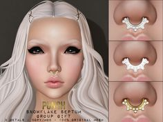 https://flic.kr/p/FQ6NdS | PUNCH ♥ SL FREE | PUNCH Snowflake Free Group - Gift ♥ Update New White Silver and Snow White Metals! In world: maps.secondlife.com/secondlife/THE%20Beachstore/99/133/33