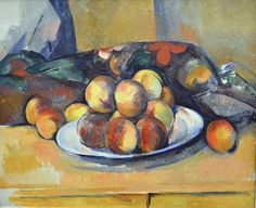 Still Life with Plate of Peaches, 1900.  Paul Cezanne
