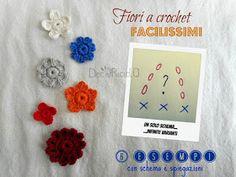 decoriciclo: Fiori a crochet facilissimi: un solo schema con infinite varianti