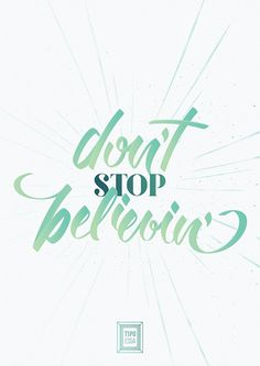 Don't Stop Believin' « Tipo Essa