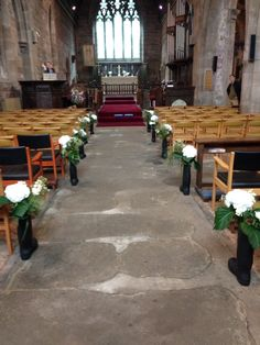 Wellies in the church aisle