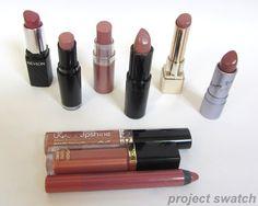 Drugstore Nude & Neutral lipstick comparison