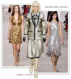 Brilhos – Chanel: Outono 2016 e Michael Kors: Outono 2016