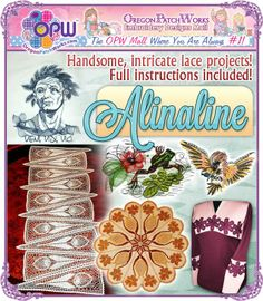 Fashionable machine embroidery designs by Alinaline!