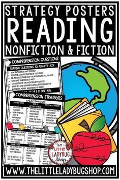 Help Students Become Better Readers with these Reading Strategies Stems to Help Readers in Nonfiction and Fiction Text Posters. These are perfect for Guided Reading, Small Group, Display, or Student Notebooks. This is a wonderful set of Reading Strategies questions to ask 2nd grade, 3rd grade, 4th grade and home school readers during Guided Reading, Independent reading, or to send home to parents as a guide. #readingstrategies  #readingresponse #comprehensionstrategies