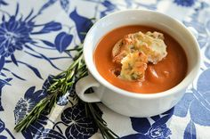 White Bean And Tomato Soup recipe by Tommy Engstrom White Bean Soup, White Beans, Tomato Soup Recipes, Thai Red Curry, Smoothies, Beverage, Ethnic Recipes, Food, Tomato Soup