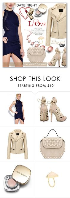 """""""Date Night Style by Yoins (casual)"""" by jecakns ❤ liked on Polyvore featuring Love Quotes Scarves and Dolce&Gabbana"""