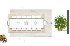 Disposer une table dans l'axe d'un sapin pour un effet magistral - Noël polaire / White Xmas