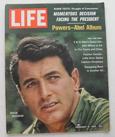 Rock Hudson 1962 Life Magazine 1960s COVER Vintage by Christian Montone, via Flickr