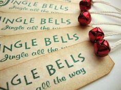 Christmas Gift Tags Vintage Style Jingle Bells @Alison Hobbs Hobbs Creamer