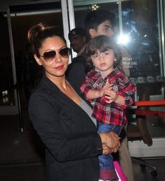 Gauri Khan and AbRam