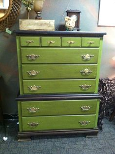 I love this hand painted dresser