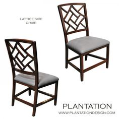 Plantation Design -- Dining Chairs in White