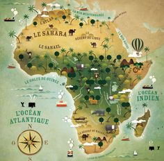 map of Africa for children's book
