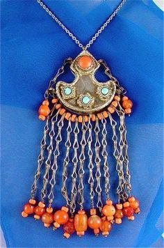 Old Uzbek Pendant Traditional Turkoman Art of Central Asia   craftsofthepast - Jewelry on ArtFire