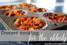 Tips on how to package in a smaller serving size. Or how to package up leftovers for the freezer - It could be helpful for the elderly or even a single person who wouldn't likely be able to eat an entire lasagna or casserole if it was offered to them.