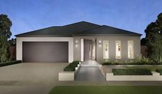 House Facade Single Story Australia For 2019 Modern House Facades, Modern Architecture House, Modern House Plans, Modern House Design, Modern Brick House, Facade Design, Exterior Design, Style At Home, Rendered Houses