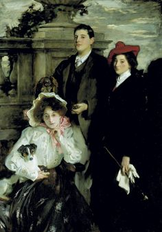 John Singer Sargent -- Hylda, Almina and Conway, Children of Asher Wertheimer 1905