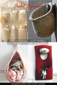 Crochet pocket organisers - DiaryofaCreativeFanatic