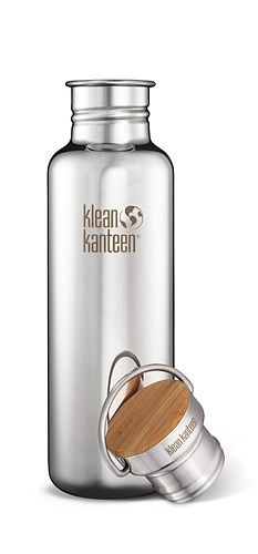 Kleen Kanteen - reflect w/ bamboo top! I personally believe these are the best drinking canisters. Here is the link: http://www.kleankanteen.com/