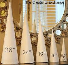 Templates and Tutorial for making craft cones- The Creativity Exchange