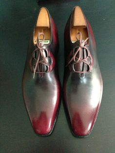 Simply mesmerizing - the two toned colors and the smart lacing system. A perfect pair of dress shoe by Corthay Pierre