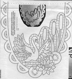 "Képtalálat a következőre: ""haft richelieu"" Cutwork Embroidery, Embroidery Patterns Free, White Embroidery, Point Lace, Cut Work, Vintage Crafts, Bobbin Lace, Hand Quilting, Vintage Patterns"