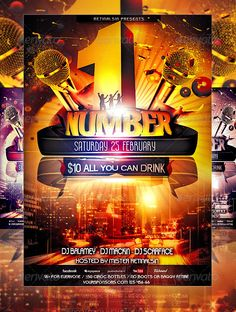 NumberOne Party Flyer Template