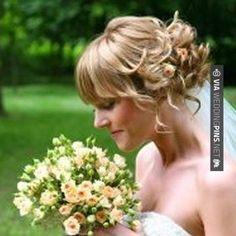 Wedding Hairstyles for Short Hair - Bridal Hair Dos Casual Wedding Hair, Hairdo Wedding, Elegant Wedding Hair, Wedding Hairstyles, Wedding Bangs, Beach Hairstyles, Romantic Hairstyles, Hairstyles Pictures, Glamorous Wedding