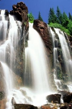 Waterfalls in La Plata Canyon, Durango, Colorado by inez