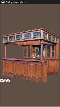 609e56ad30a7bb27c4a6fce22158a115--irish-bar-pub-ideas.jpg & Big Canopy Home Pub Bar *Antique Furniture* Man Cave Tavern* ( It ...