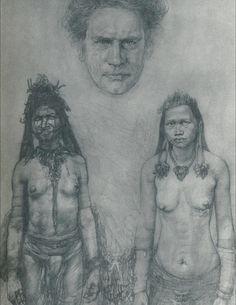 Austin Osman Spare - The Bones Go Last [Austin Osman Spare: Cockney Visionary. Austin Osman Spare, Automatic Drawing, Occult Symbols, Pagan Art, Evil People, English Artists, Magick, Illustrators, Drawings