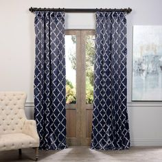 Black Blackout curtains - Exclusive Fabrics & Furnishings SemiOpaque Seville Dusty Teal Blackout Curtain 50 in W x 84 in L (Panel). Farmhouse Curtains, Burlap Curtains, Floral Curtains, Hanging Curtains, Drapes Curtains, Green Curtains, Bathroom Curtains, Layered Curtains, French Curtains