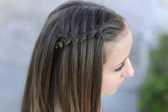 Four Strand Waterfall Braid from Cute Girls Hairstyles