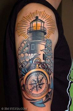 Lighthouse tattoo I plan on getting the outter banks lighthouse on my arm to start my half sleeve . My heart has always belonged there