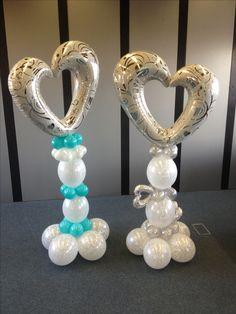 Tendenze 2017 per decorare Matrimoni, colonne per Wedding color argento e tiffany. By C&C CREATIONS Eventi