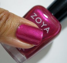 Zoya Anaka - Vibrant purple-toned deep fuchsia-pink with reflective hot pink shimmer and gold microglitter. - 04/26/2014