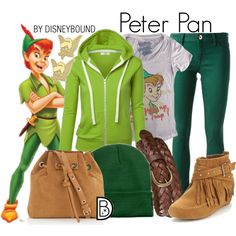 Get the look!For the follower who requested a casual/comfy Peter Pan look! <3