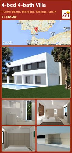 4-bed 4-bath Villa in Puerto Banús, Marbella, Malaga, Spain ►€1,750,000 #PropertyForSaleInSpain