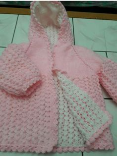 """Diy Crafts - """"This post was discovered by Emire Semen. Discover (and save!) your own Posts on Unirazi."""", """"Reversible You crochet pattern"""", Baby Knitting Patterns, Crochet Baby Sweater Pattern, Baby Sweater Patterns, Easy Crochet Patterns, Baby Patterns, Knit Crochet, Baby Girl Jackets, Yarn Shop, Double Knitting"""