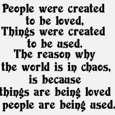 the world is in chaos because....