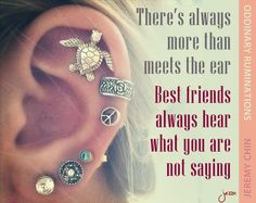 """""""There's always more than meets the ear. Best friends always hear what you are not saying."""" - Jeremy Chin"""