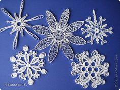 Мастер-класс Квиллинг: Снежинки. Бумажные полосы Новый год. Фото 1