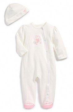 3132f2cc17 Little Me  Ballet Bear  Footie   Hat (Baby Girls)