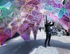 Kaleidoscopic installation brings a futuristic funhouse hall of mirrors to the Flatiron District