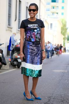#PFW day 4: Everyone's wearing out-of-this-world galactic motif tops
