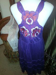 Free People, Ladies Dress, Purple, NWOT,Empire Waist with Cut out Shoulder, SZ L